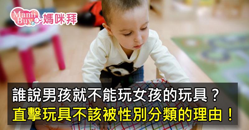 大圖-為什麼說小男孩應該也要玩那些「女孩」的玩具!