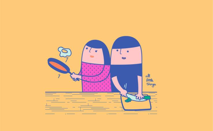 一起煮對方喜歡吃的東西