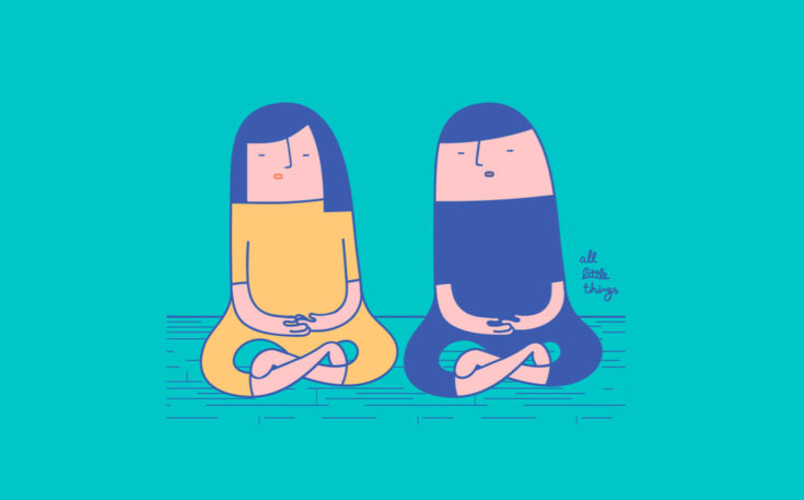 為了共同寧靜而冥想