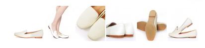 RANDA純白低跟樂福鞋 整體都使用馬毛為素材製作的鞋款,鞋尖獨有的方形設計給人質感的好印象。優美的鞋款曲線即使是平日休閒的穿著也十分適合的一款