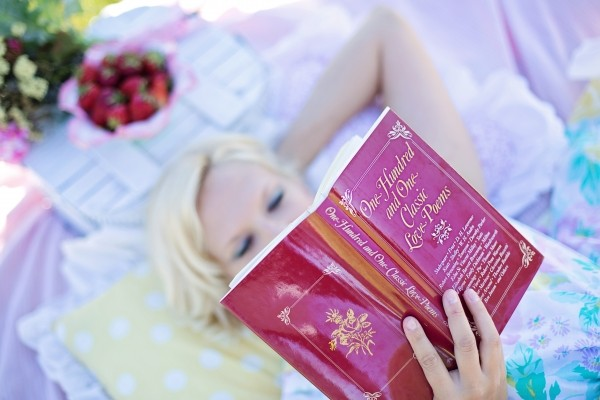 woman-reading-love-poem-book-picnic-book-woman